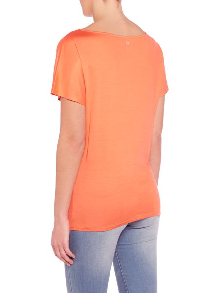 Max Mara Tenna short sleeve silk plain top