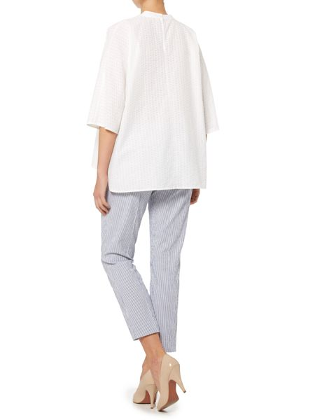 Max Mara Didy long sleeve collarless oversized shirt