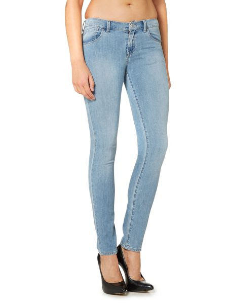 Armani Jeans J23 Lily push up skinny jean in light wash
