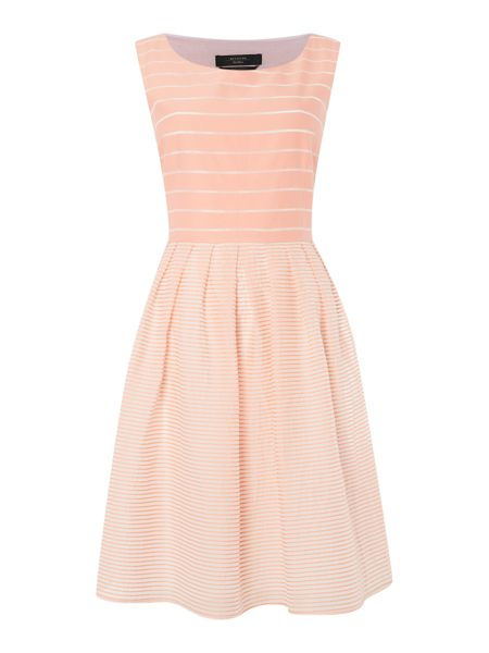 Max Mara Giubba sleeveless stripe silk mix dress