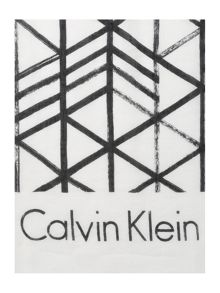 Calvin Klein Brush city grid scarf