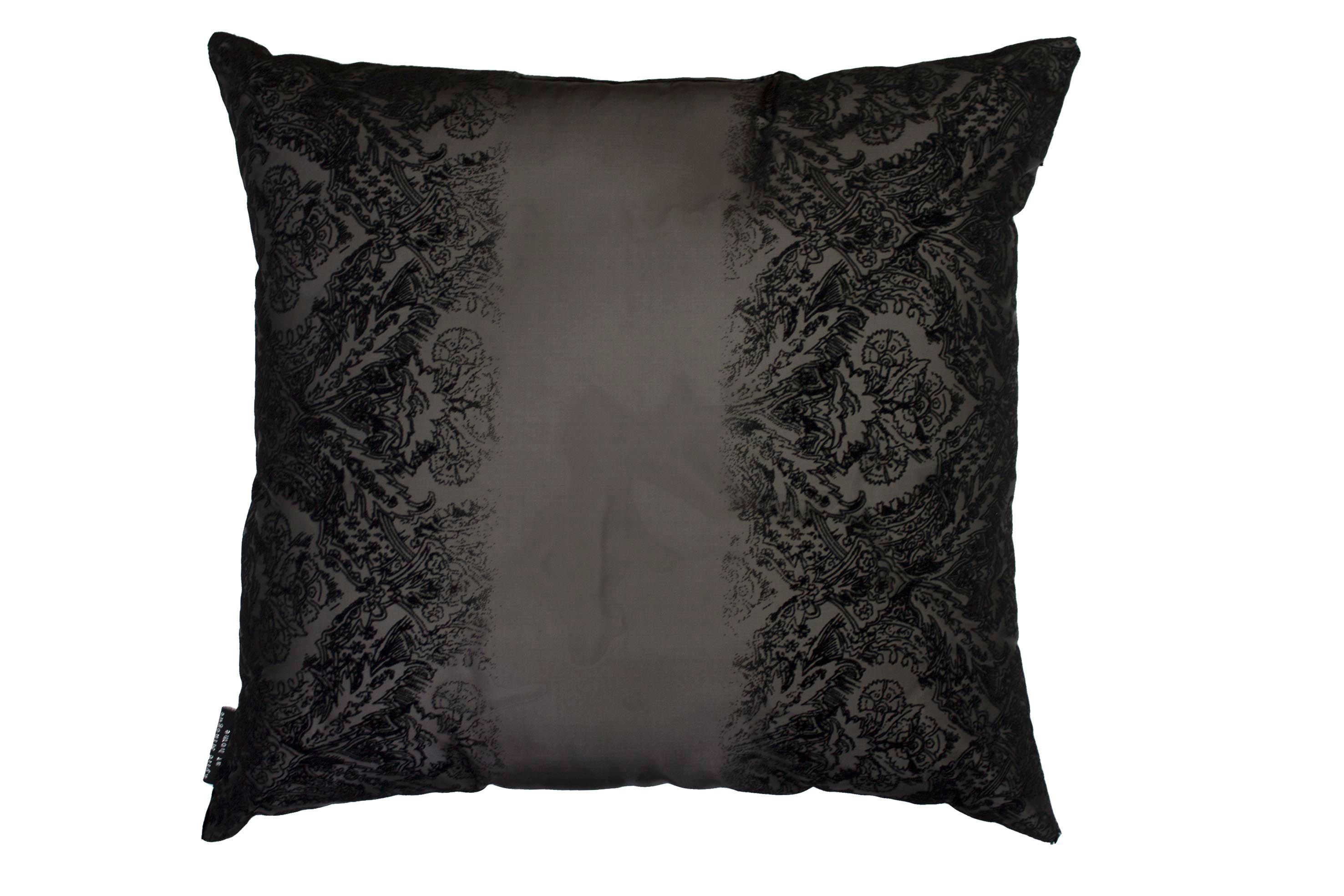 Image of Kylie Minogue Black flock voile co-ordinating cushion