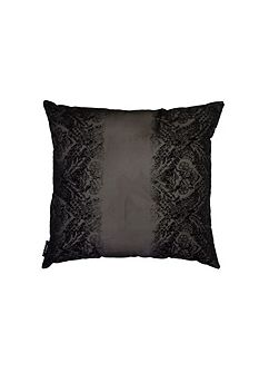 Black flock voile co-ordinating cushion