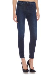 Armani Jeans J74 Mai high rise skinny crop jean in dark wash