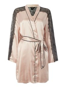 Lipsy Lace trim silky robe