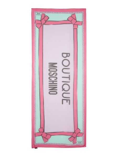 Boutique Moschino Large logo long scarf
