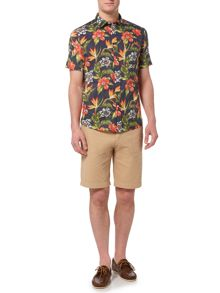 Howick Tropical Print Short Sleeve Shirt