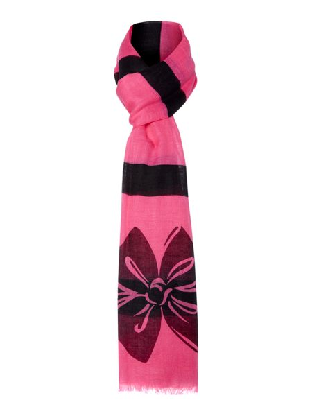 Boutique Moschino Bow logo long scarf