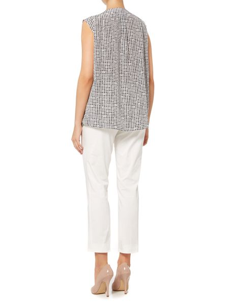 Max Mara Potenza square print sleeveless silk top