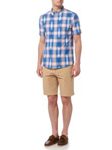 Howick Arizona Ikat Check Short Sleeve Shirt