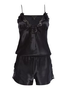 Lipsy Silky lace playsuit