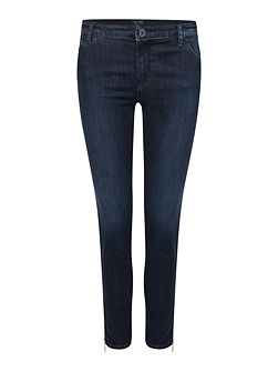 J50 mid rise cropped skinny jean with zip