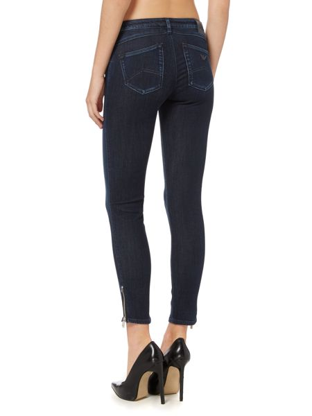Armani Jeans J50 mid rise cropped skinny jean with zip