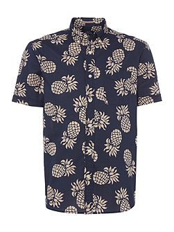 Ananas Print Short Sleeve Shirt