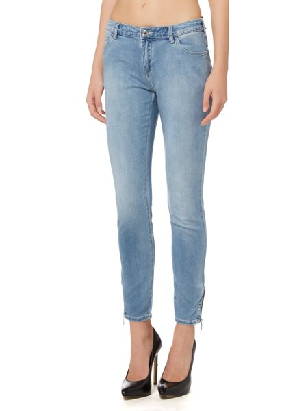 Armani Jeans J50 mid rise cropped skinny jean with zips
