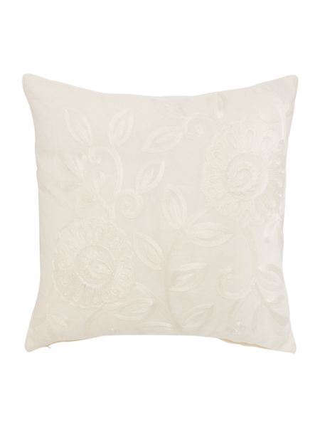 Linea Embroidered floral design cushion