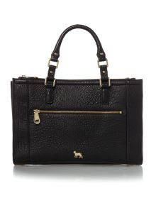 Lamb 1887 Hampton black medium tote bag