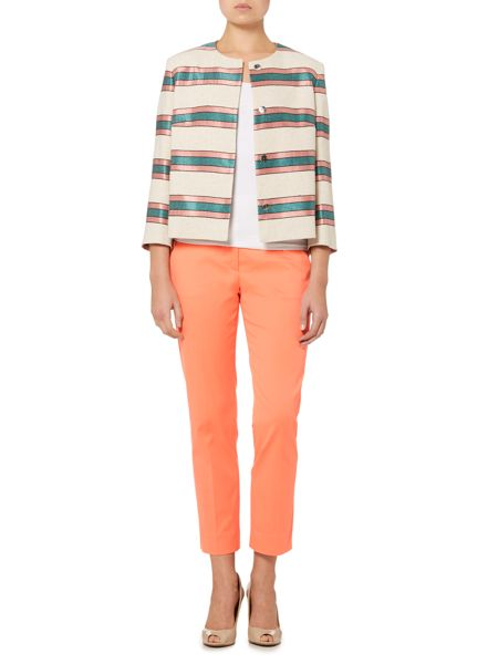 Max Mara Burano long sleeve stripe jacket