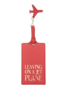 Lamb 1887 Come away pink luggage tag