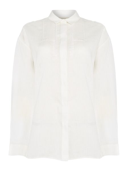 Max Mara Kim long sleeve linen shirt