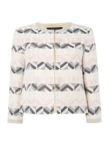 Max Mara Vagare long sleeve geometric print stripe jacket