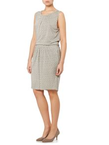 Max Mara Lillo sleeveless jacquard print drop waist dress