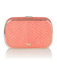 Lamb 1887 Iris coral small clutch bag