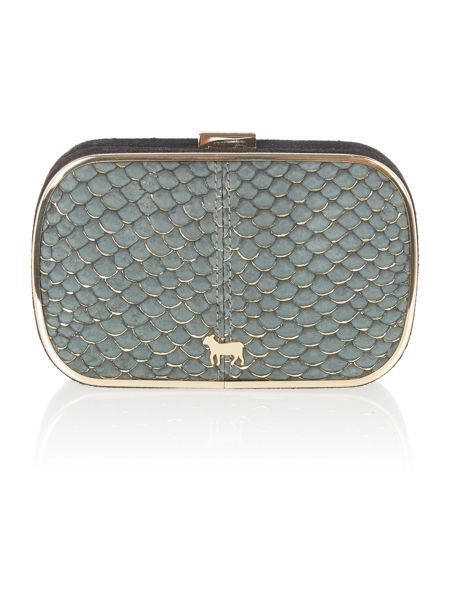 Lamb 1887 Iris black small clutch bag
