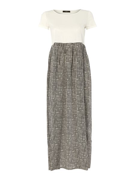Max Mara Genere plain top printed skirt maxi dress