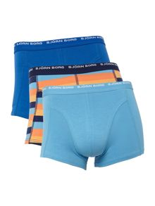 Bjorn Borg 3 pack of plain and striped trunk