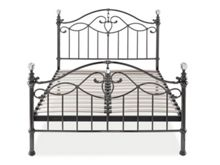 Linea ELEANOR 135CM BEDFRAME IN BLACK NICKEL