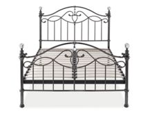 Linea Elenanor 150cm bedframe in black nickel