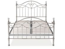 Linea Elenanor 135cm bedframe in shiny nickel
