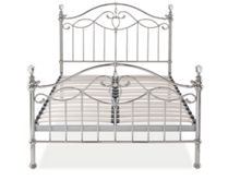 Linea Elenanor 150cm bedframe in shiny nickel