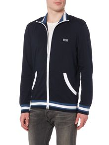 Hugo Boss Zip through contrast stripe cuff jacket