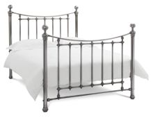 Linea ISABELLA 135CM BEDFRAME ANTIQUE NICKEL