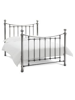 Isabella 135cm bedframe in antique nickel