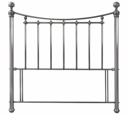 Linea Isabella 135cm bedframe in antique nickel