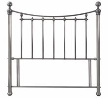 Linea Isabella 150cm bedframe in antique nickel