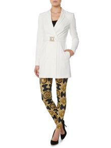 Versace Jeans Long blazer jacket with belt