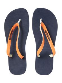Top mix contrast flip flops