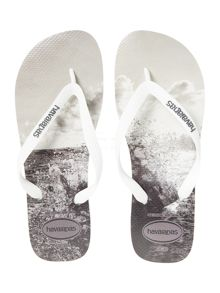 Sea spray print flip flop