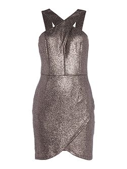 Halterneck Glitter Lurex Bodycon Dress
