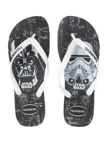 Star wars Darth Vader and Stormtrooper flip flops