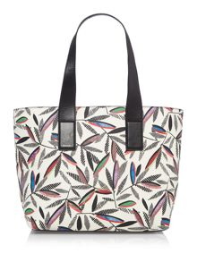 Paul Smith London Rowan leaf white tote bag