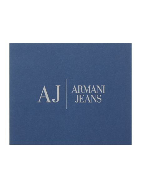 Armani Jeans Leather cardholder with logo
