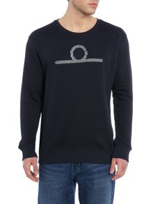 Waven Elias crew neck embroidered logo sweatshirt