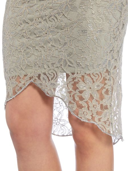 Girls on Film Lace Bodycon Skirt with Insert