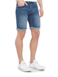 Waven Stig mid wash denim short