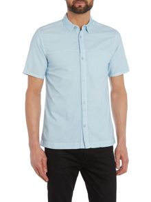 Waven Josef slim fit short sleeve hidden pocket shirt